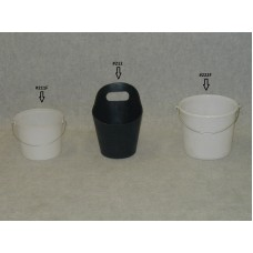 5 Quart Poly Pail-Black