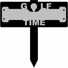Golf Time Sign with 15