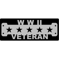 WWII Veteran Sign with 1 1/4