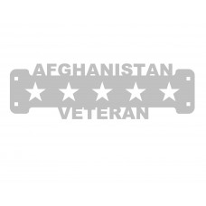 Afghanistan Veteran Sign Only Stainless Steel