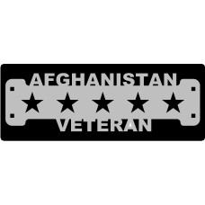 Afghanistan Veteran Sign with 1 1/4