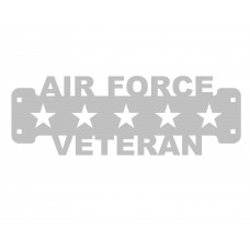 Air Force Veteran Sign Only Stainless Steel