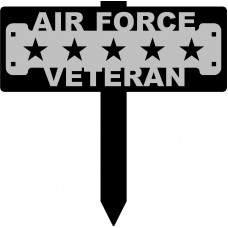 Air Force Veteran Sign with 15