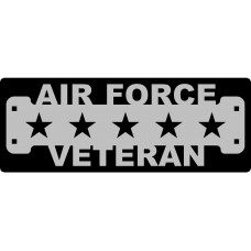 Air Force Veteran Sign with 1 1/4
