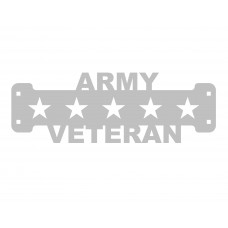 Army Veteran Sign Only Stainless Steel