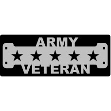 Army Veteran Sign with 2