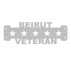 Beirut Veteran Sign Only Stainless Steel