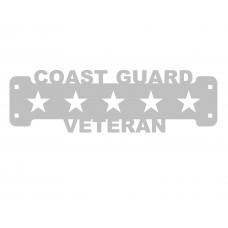 Coast Guard Veteran SIgn Only Stainless Steel