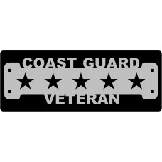Coast Guard Veteran SIgn with 1 1/4