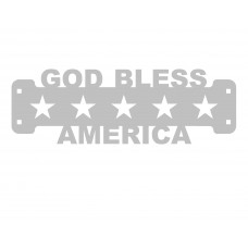 God Bless America Sign Only Stainless Steel