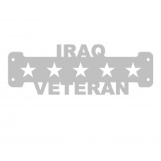 Iraq Veteran SIgn Only Stainless Steel