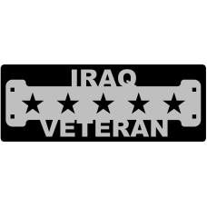 Iraq Veteran SIgn with 1 1/4