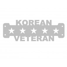 Korean Veteran Sign Only Stainless Steel