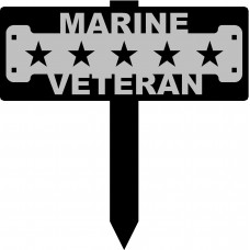 Marine Veteran Sign with 15