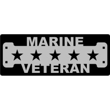 Marine Veteran Sign with 1 1/4