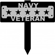 Navy Veteran Sign with 15
