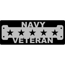 Navy Veteran Sign with 1 1/4