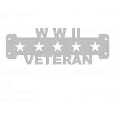 WWII Veteran Sign Only Stainless Steel